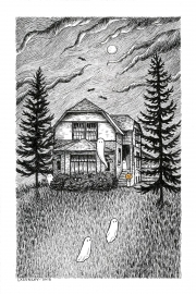 4x6-C-Haunted-house-Laurie-A.-Conley