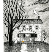 4x6-B-Haunted-house-Laurie-A.-Conley