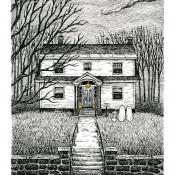 5x7 Haunted House Portrait
