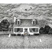 6x8 Haunted House Portrait