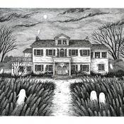8x10 Haunted House Portrait